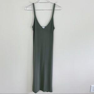 Wilfred Free x Aritiza Gitte Green Midi Dress